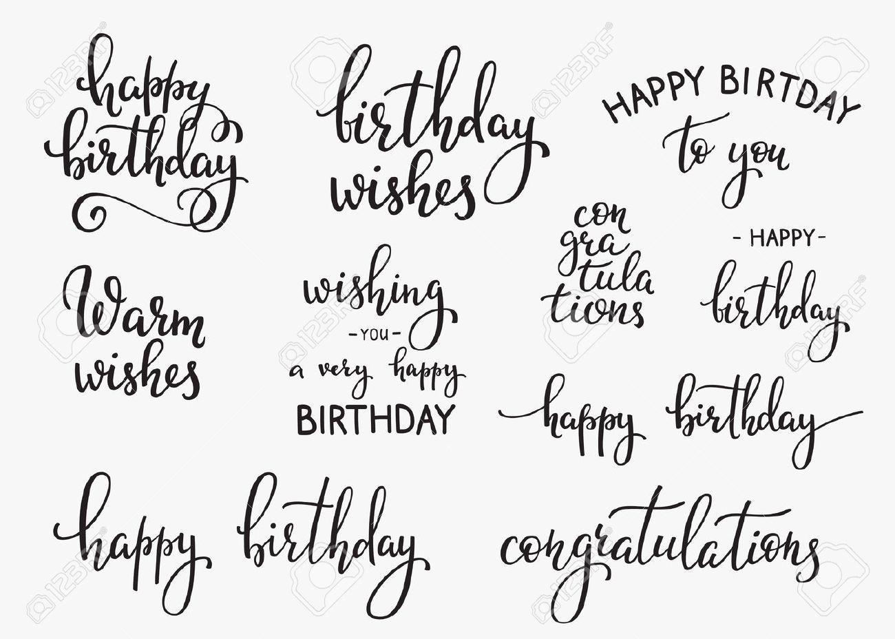 Signo Letras Conjunto Cita De La Tipografía Del Feliz Cumpleaños Diseño De L Cartel Feliz Cumpleaños Fuentes Para Letras De Feliz Cumpleaños Modelos De Letras