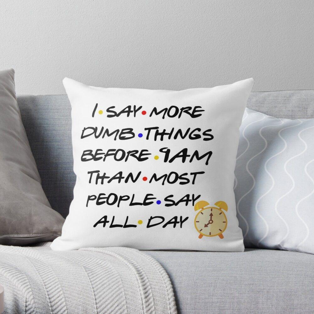 'Funny Friends Unisex Shirt, Friends Chandler Bing Funny Shirt, Chandler Bing Funny Gift, Friends Quote Shirt, Sarcastic Chandler Bing Gift' Throw Pillow by AsSaidOnTV