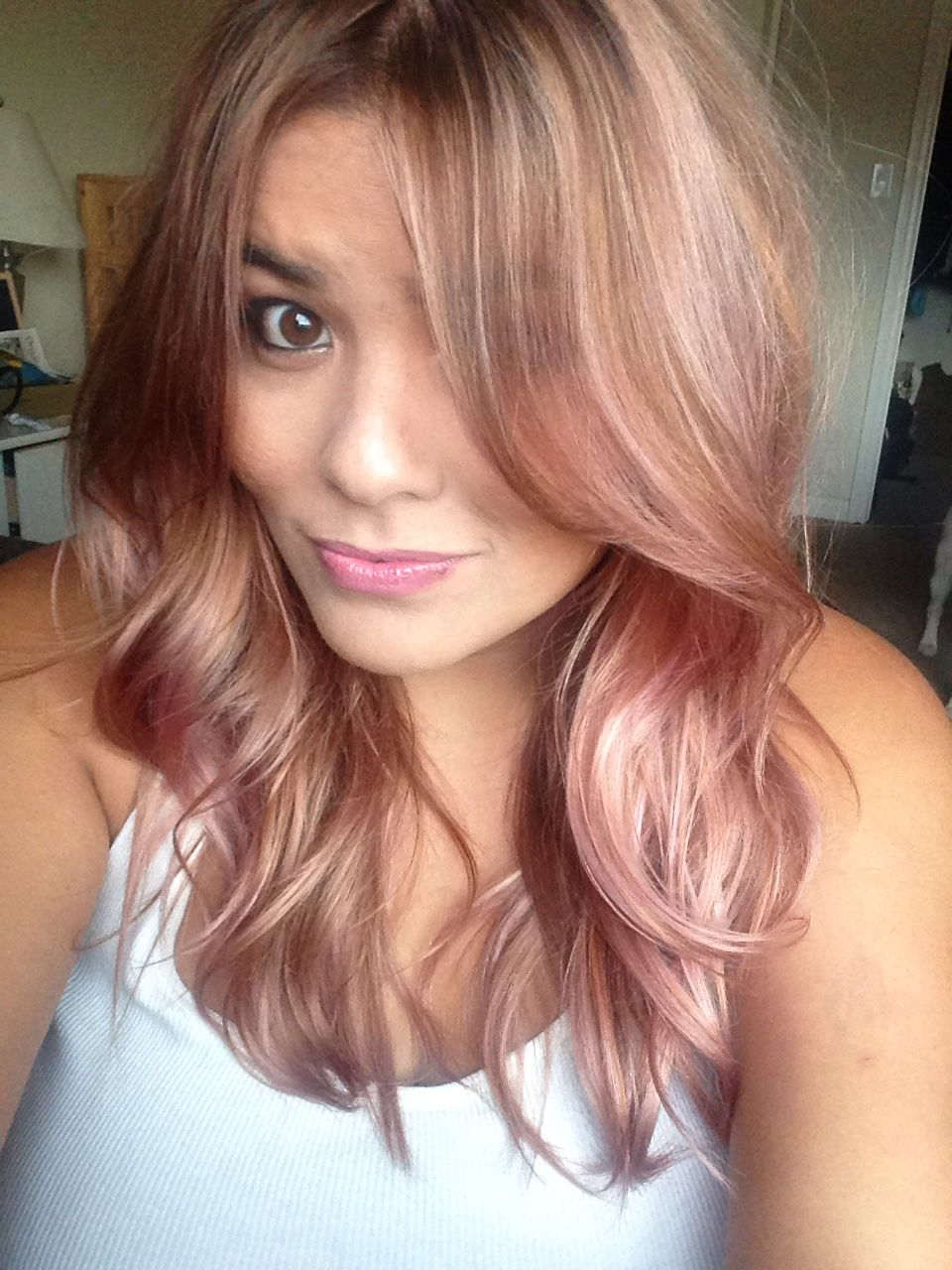 rose gold hair by jessica horsley hair colors i love. Black Bedroom Furniture Sets. Home Design Ideas
