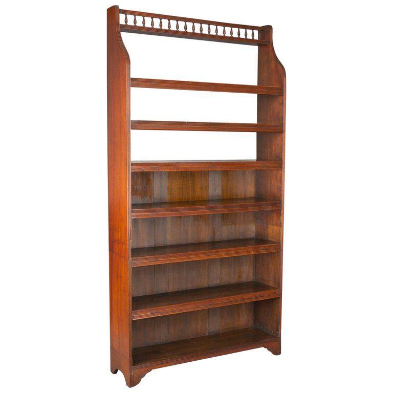 Prime Antique Open Bookcase Tall English Walnut Book Shelves Download Free Architecture Designs Scobabritishbridgeorg