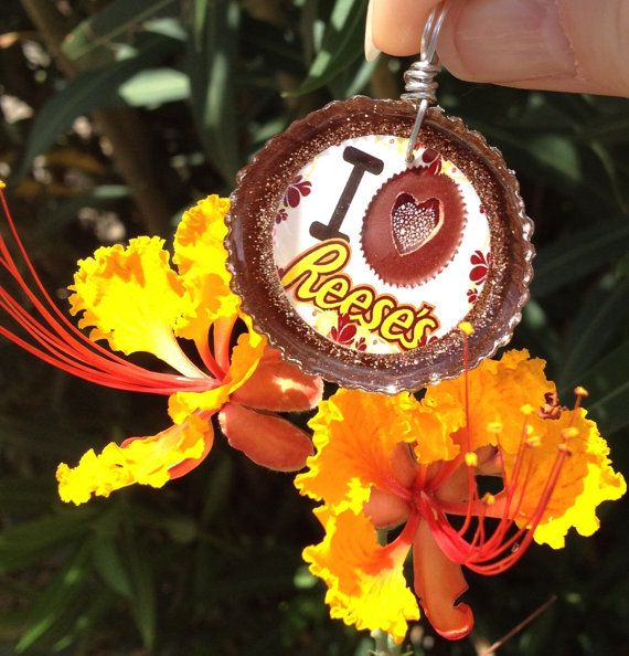 ab8227a578e Reese s Peanut Butter Cup Candy Resin Necklace by SparkleByMonica ...