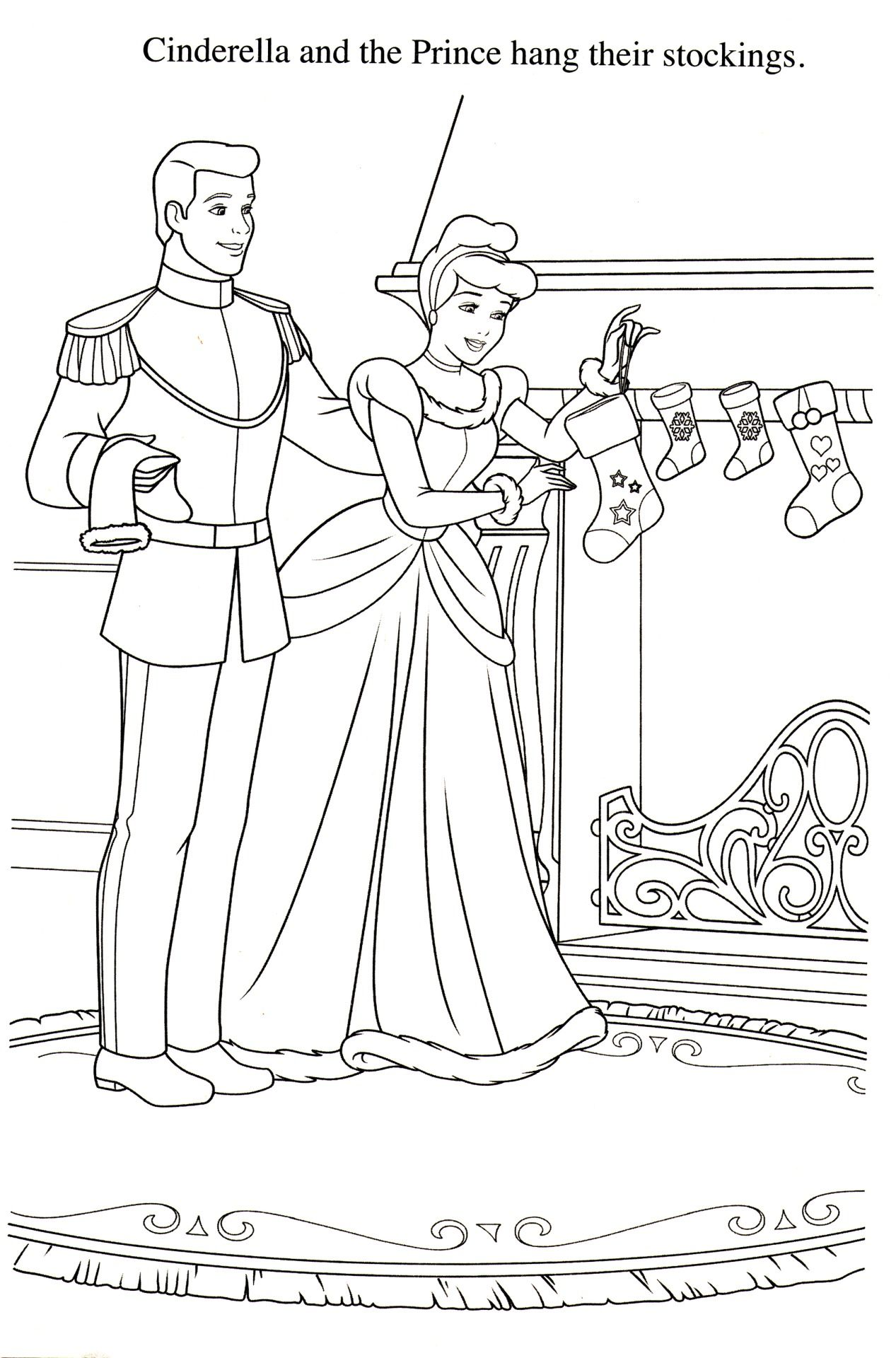 Coloriage cendrillon coloring pages pinterest christmas time