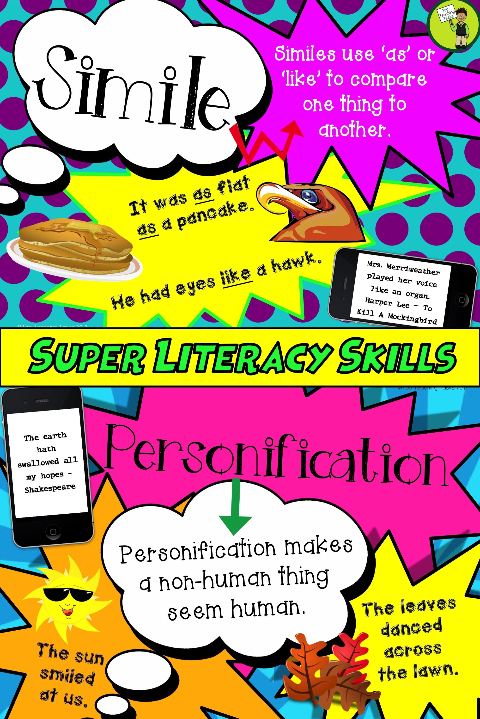 8 Figurative Language Posters These Colourful Posters Will