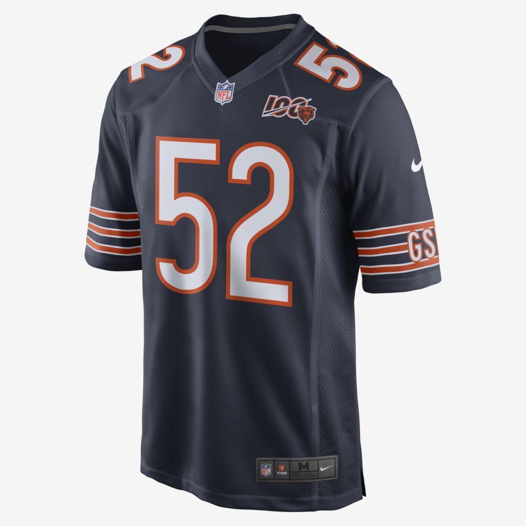 Nike Nfl Chicago Bears Khalil Mack Men S Game Football Jersey Marine Chicago Bears Chicago Bears Game Nfl Chicago Bears