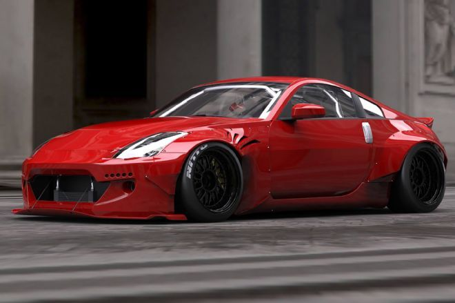 TRA Kyoto reveals Rocket Bunny wide-body kit for the Nissan