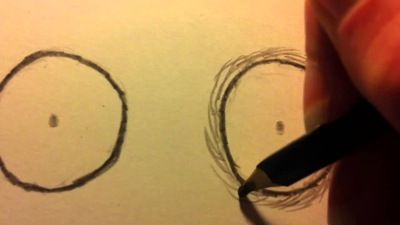 How To Shade Eyes In The Style Of Tim Burton Self Portrait - How To ...