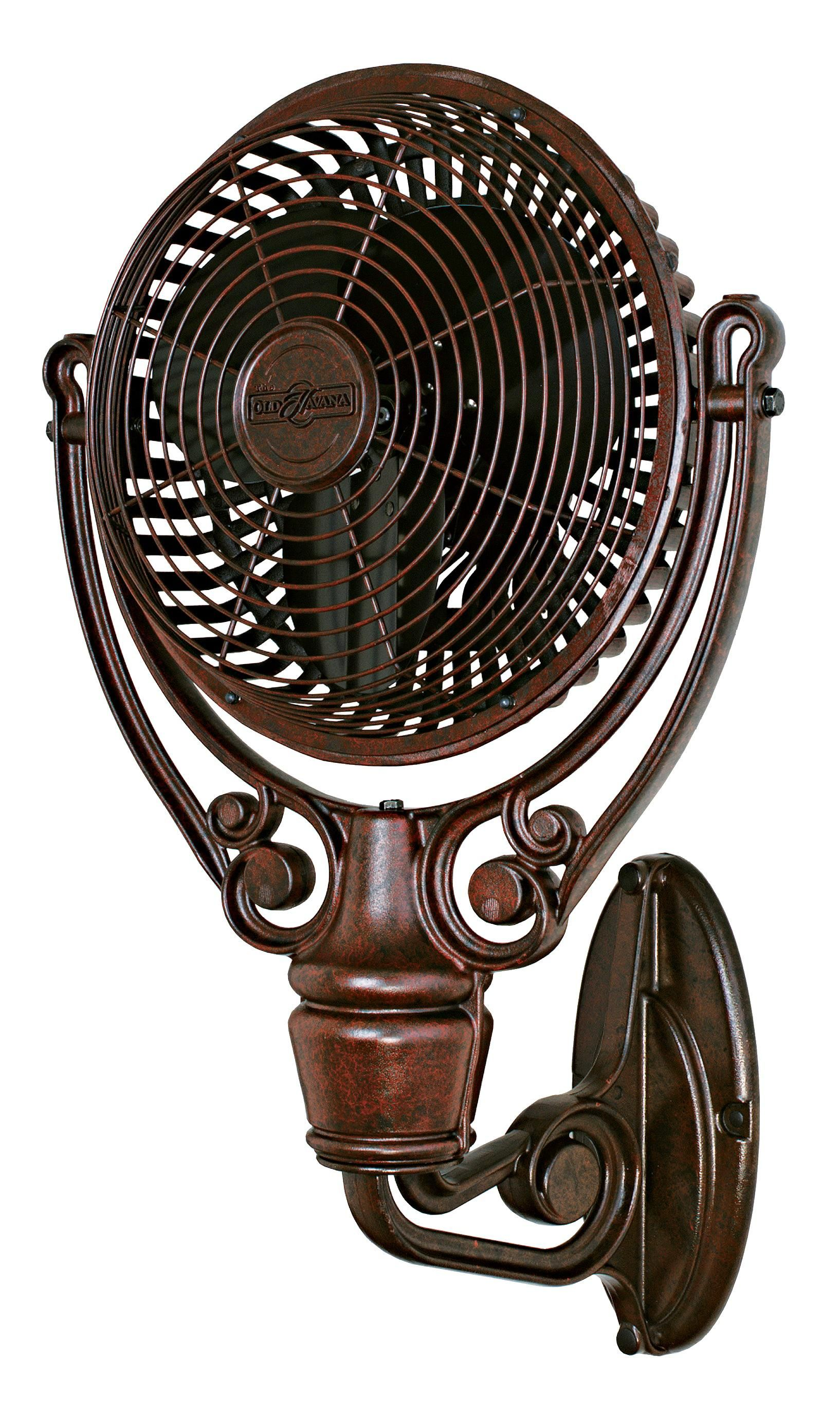 Fanimation Old Havana Rust Finish Plug In Wall Fan 25f52 Lamps Plus Wall Mounted Fan Wall Fans Wall Mount Fans