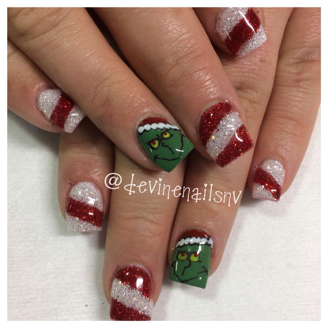 Grinch nails by Chelsea Devine @ Villaggio Salon Suites | Nails by ...