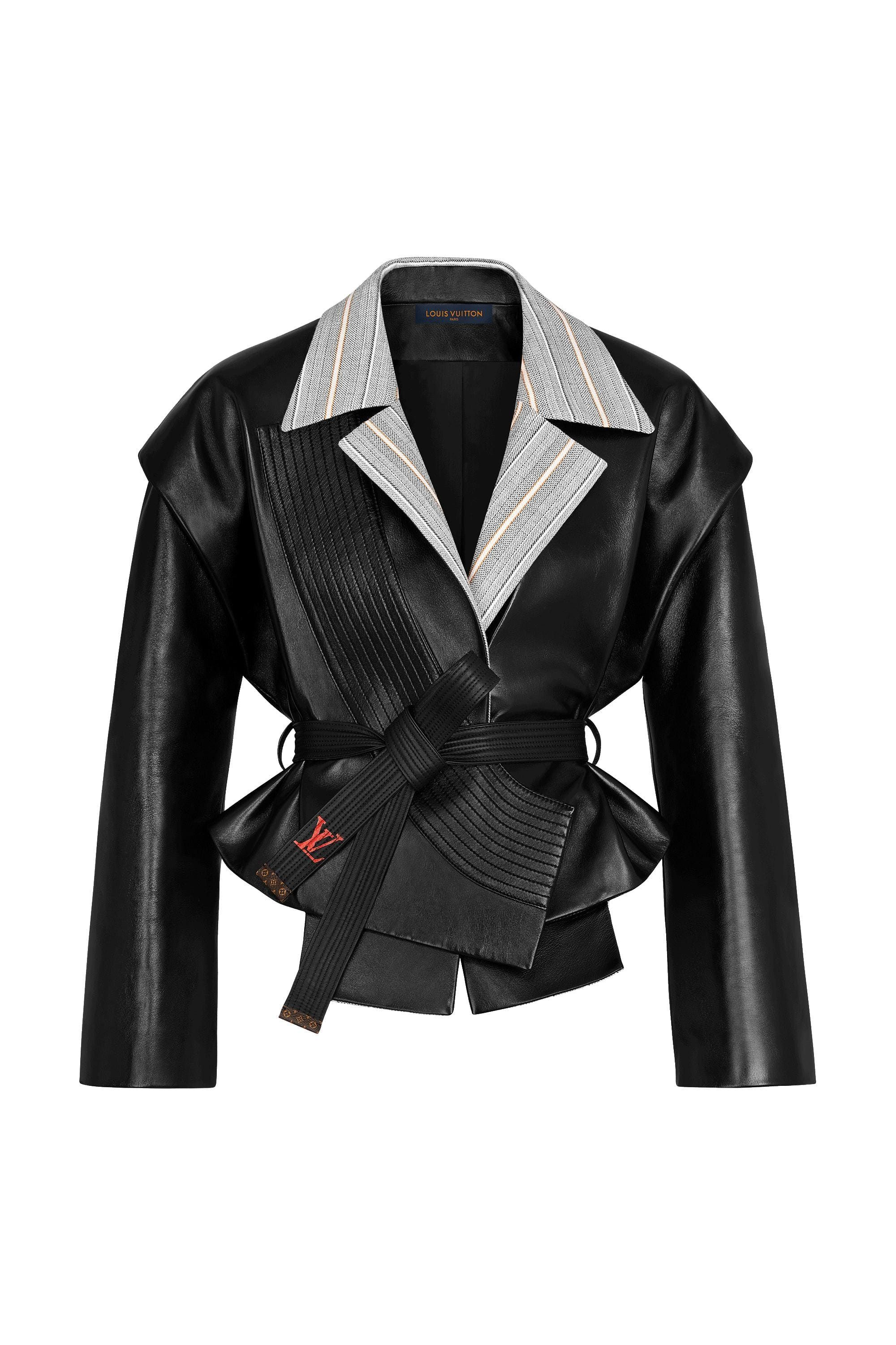 Belted Leather Jacket Via Louis Vuitton Leather Jacket Leather Jackets Women Fashion [ jpg ]