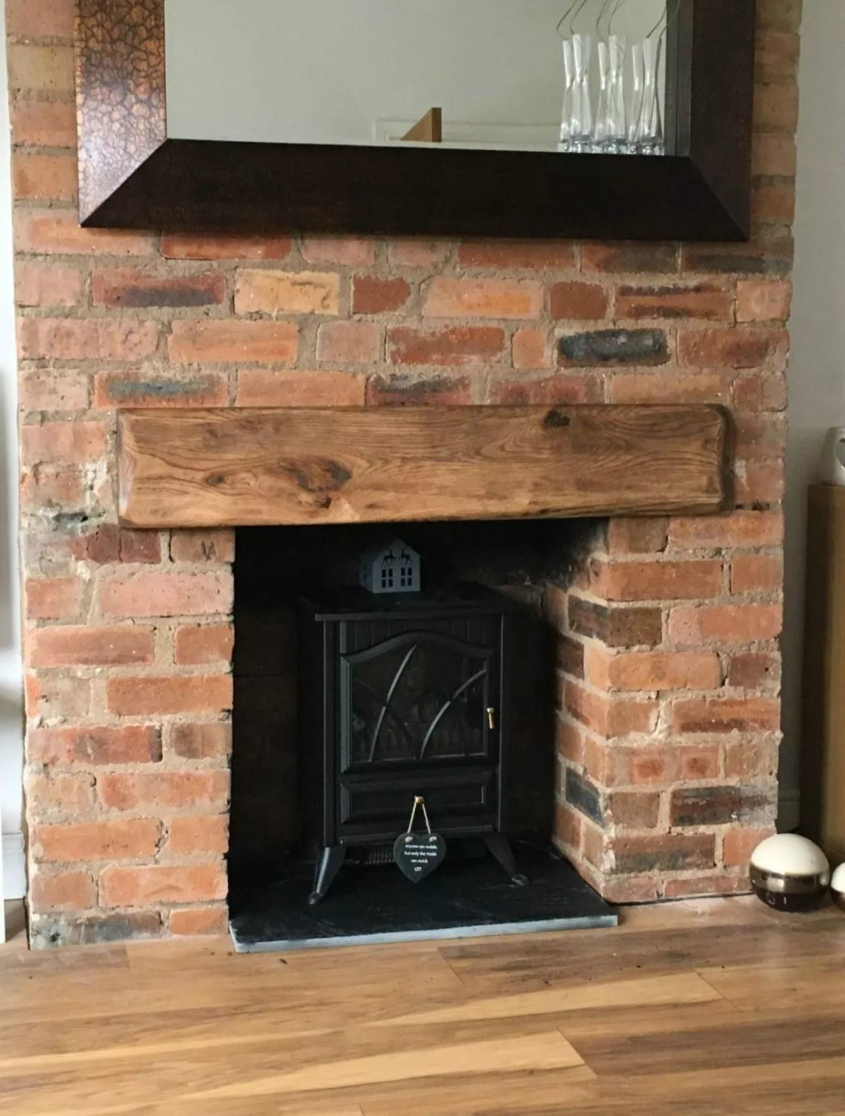 each oak mantle comes with its own knocks splits and individual