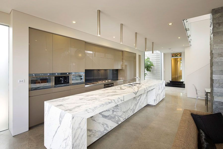 Calacatta Marble Kitchen Benchtop Slab Supplied By