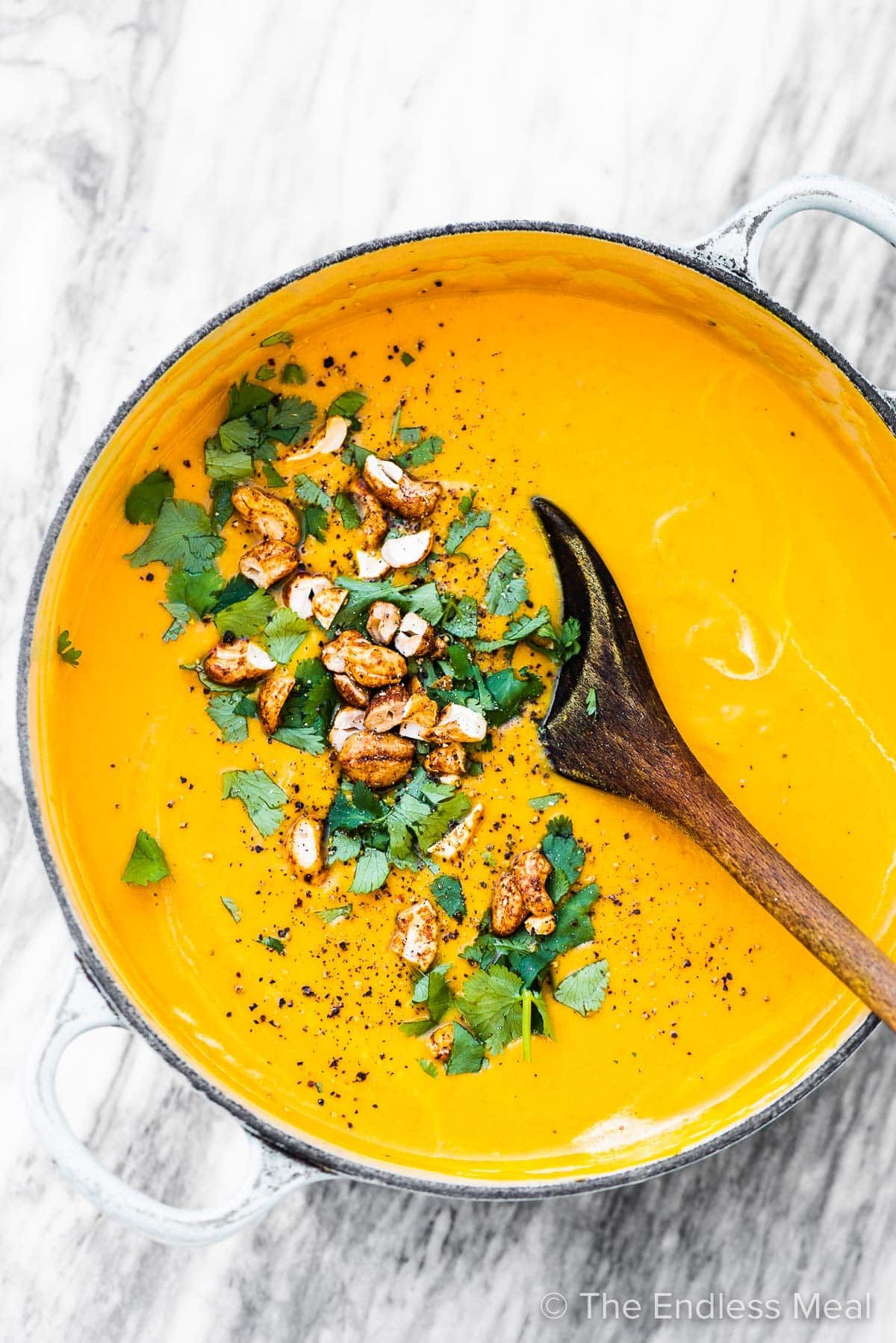 Easy Carrot Soup With Coconut And Ginger Recipe Carrot Soup Carrot Soup Recipes Carrot Ginger Soup Vegan