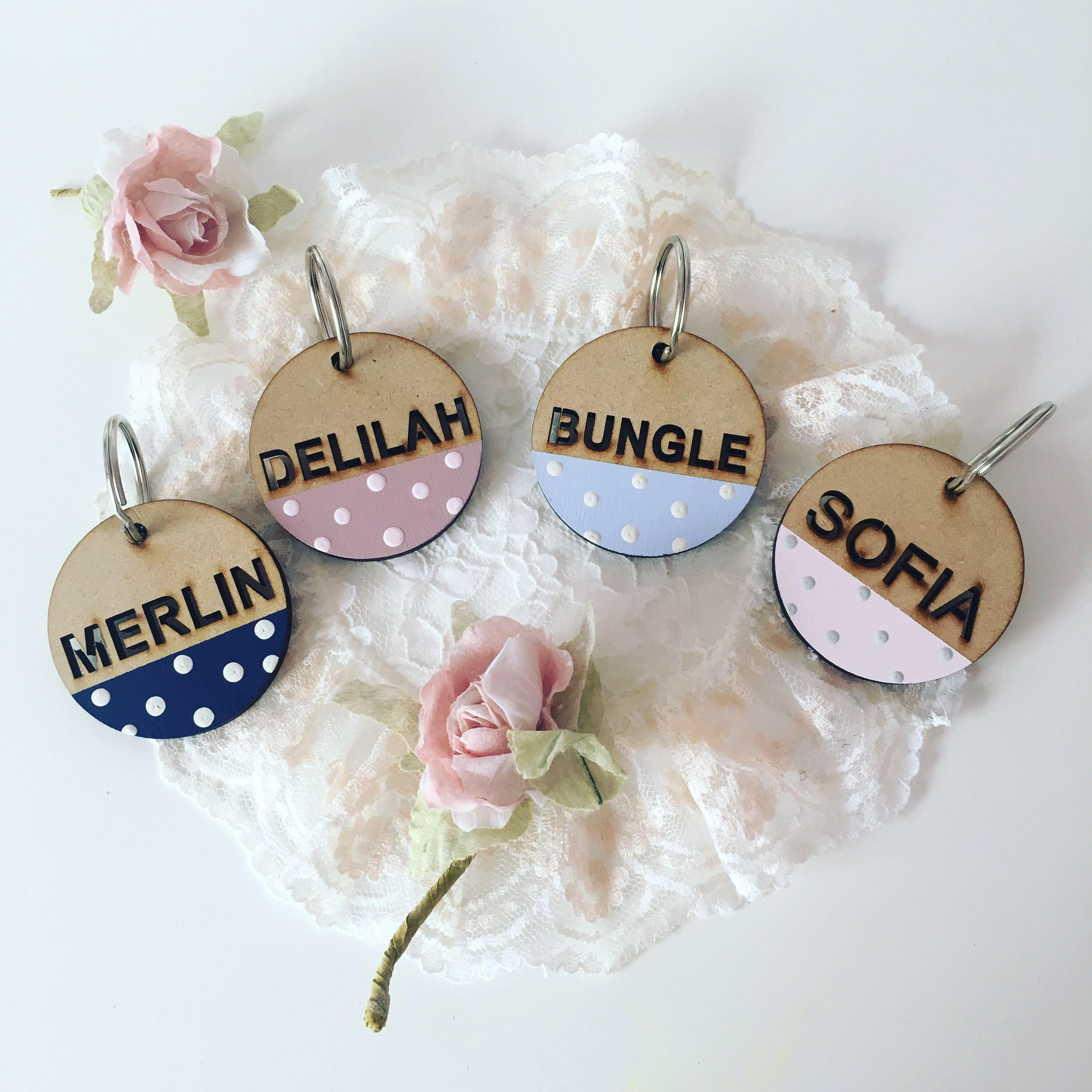 Two For Five Pounds, Chunky Name Tag, Polka Dot Zip Charm, Back To ...