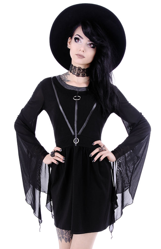 d56b7cd1b71 Restyle Gothic Punk Witchcraft Wicca Asymmetric Coven Tunic Dress ...