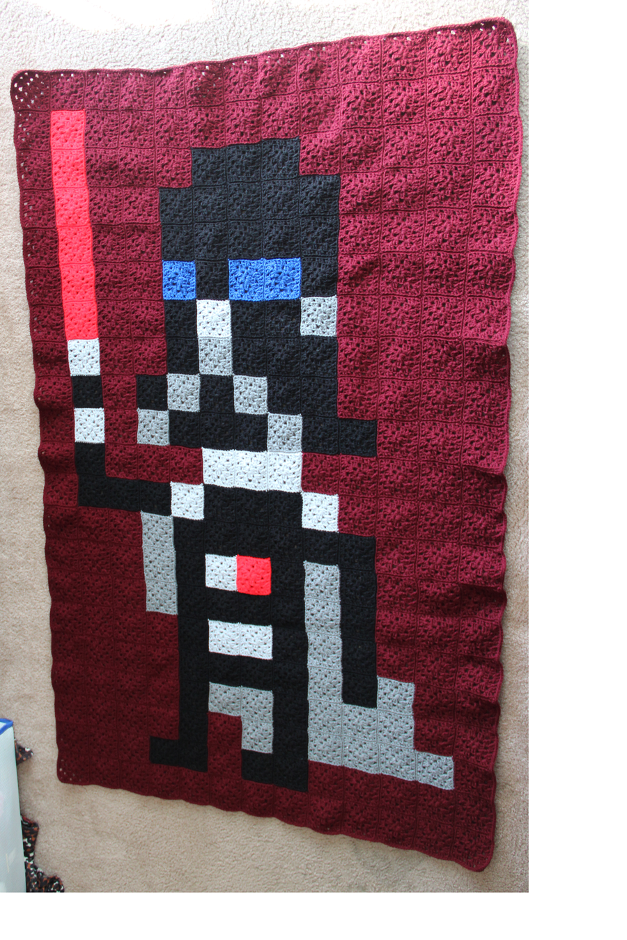 Darth Vader pixel crochet blanket by ~InAnotherCastle on deviantART ...