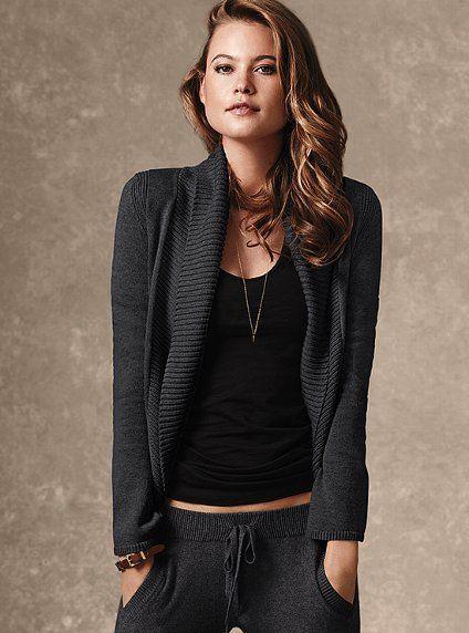 Shawl-collar Cardigan Sweater #VictoriasSecret http://www.victoriassecret.com/clothing/cardigans-and-sweatercoats/shawl-collar-cardigan-sweater?ProductID=77606=OLS?cm_mmc=pinterest-_-product-_-x-_-x