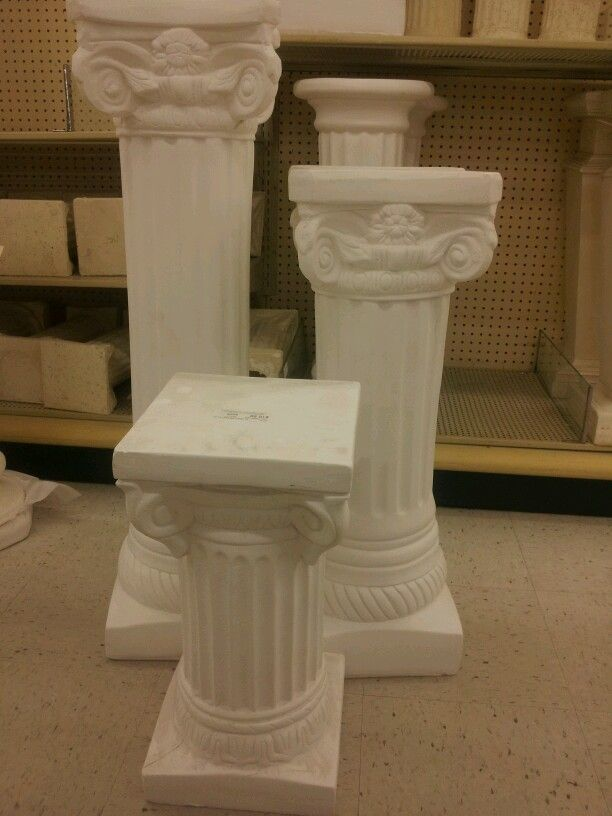 White White Columns From Hobby Lobby Altar Decorations