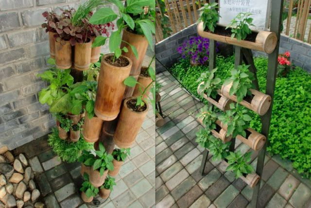 Create Your Own Stacked Planters From Bamboo We Have The 400 x 300