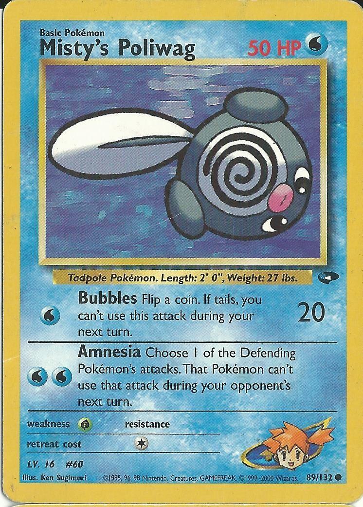 Mistys poliwag pokemon card pokemon cards pokemon