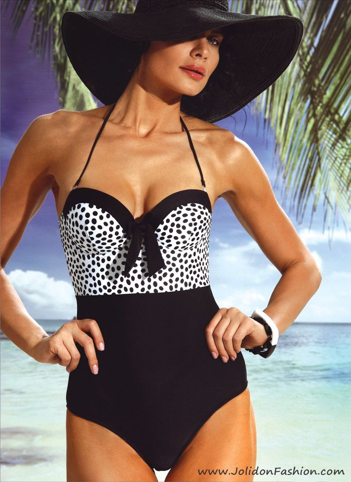 c590b8dc14 Polka-Dot One Piece Bathing Suit - 2013 Jolidon Swimwear