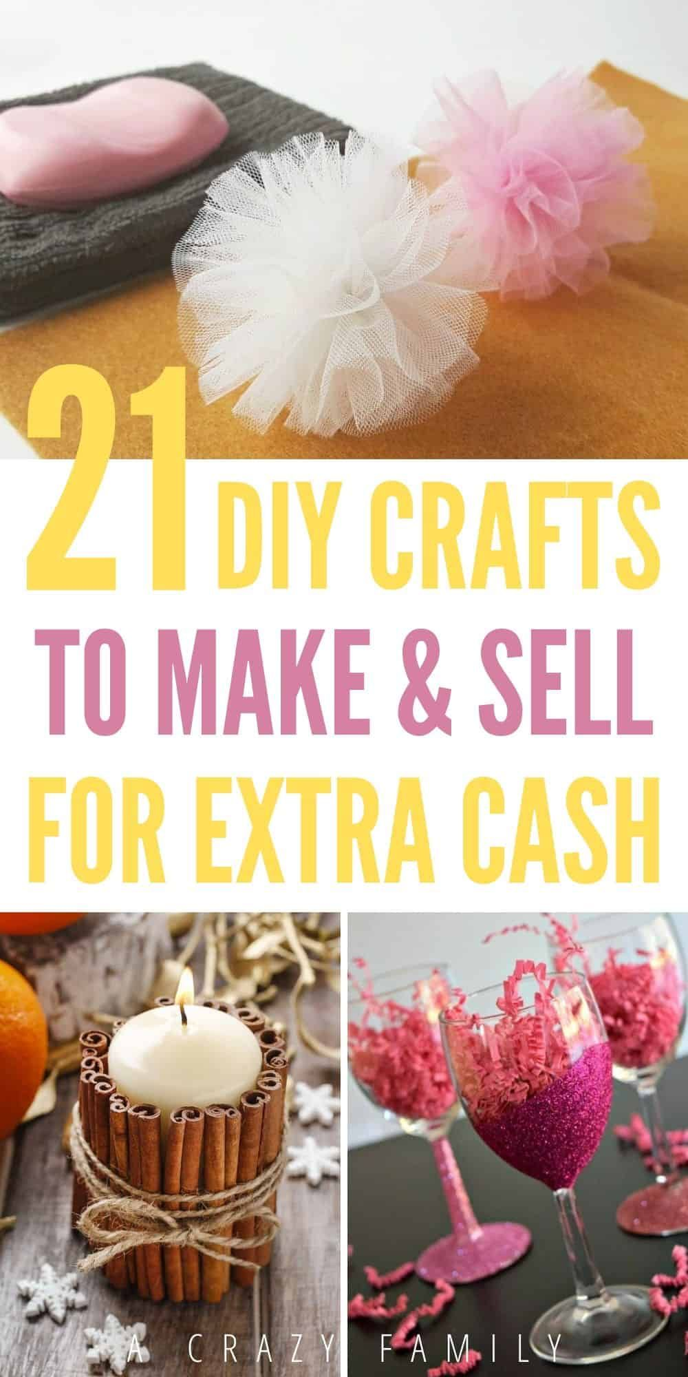 21 DIY Crafts To Make And Sell For Extra Cash Diy gifts