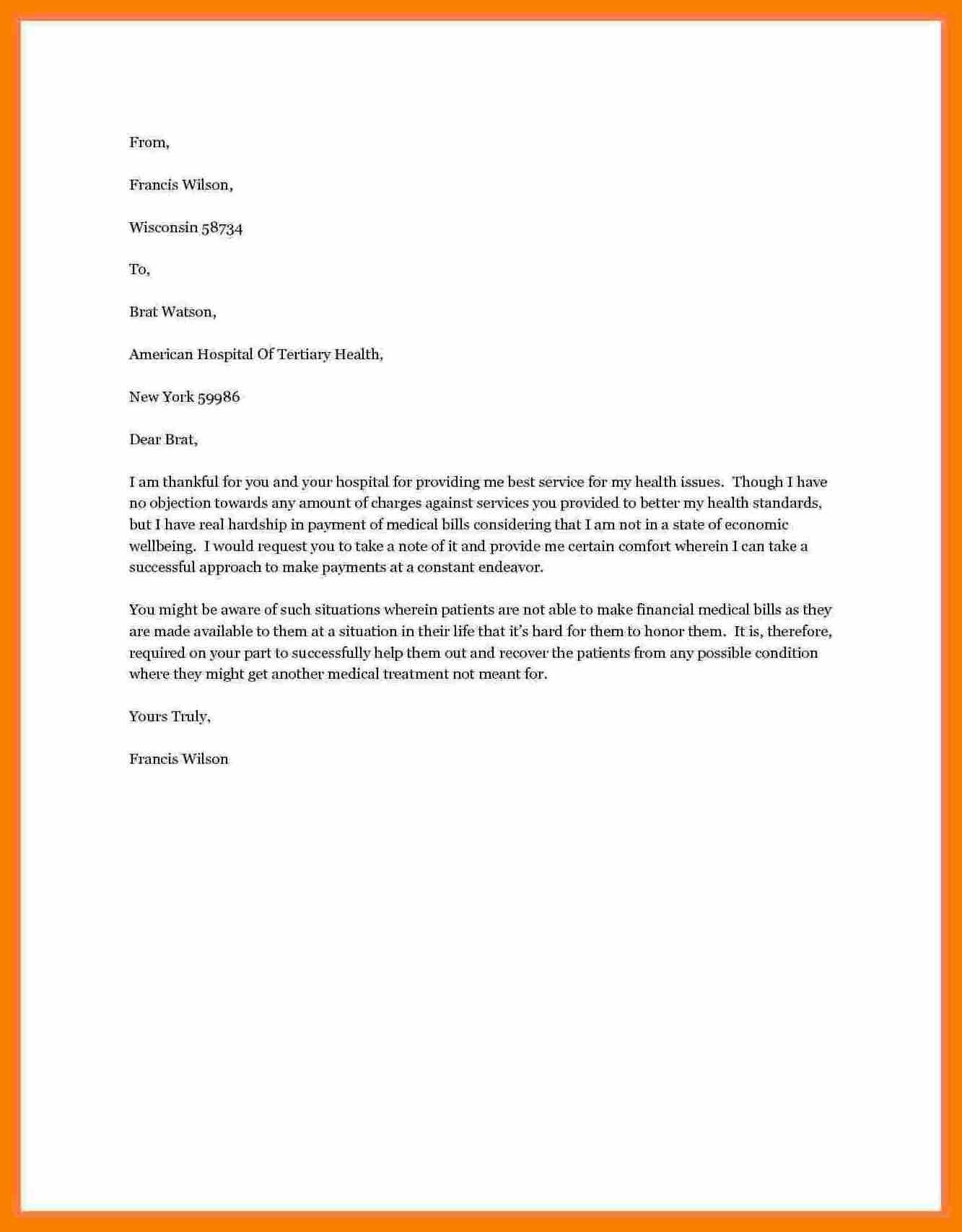 Financial Assistance Letter Sample Inspirational 10 Letter Of