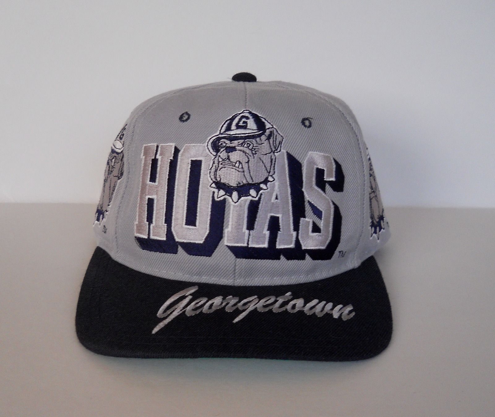 finest selection d062a 1e33d Georgetown Hoyas Vintage 90s Snapback Hat NCAA Script Big Logo Cap Top Star    eBay