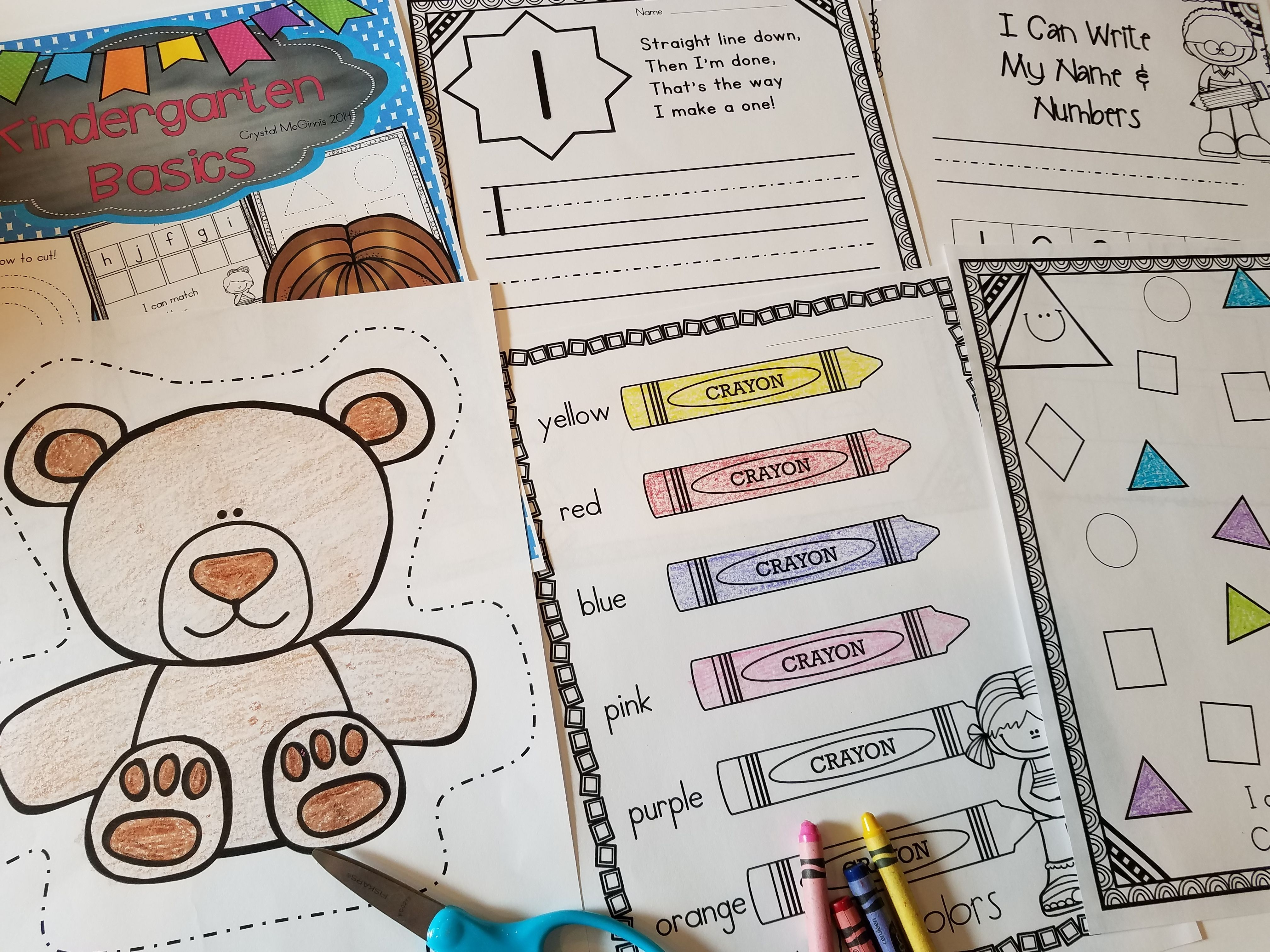 Beginning Of The Year Basics Printables For The First Few