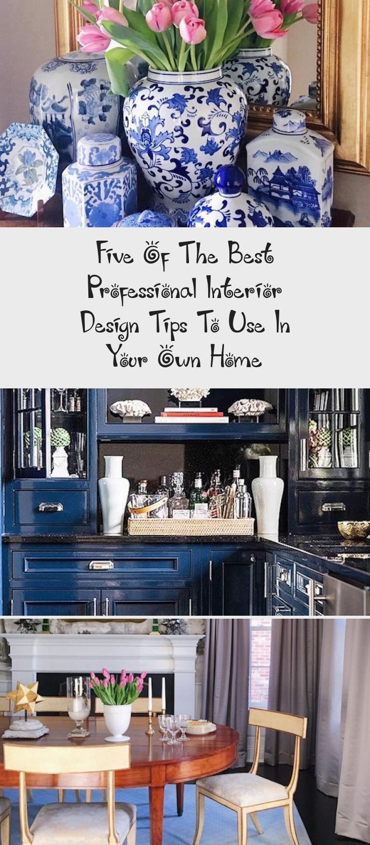 #interiordesignClassic  #interiordesignBohemian  #interiordesignCafe  #interiordesignMoodBoard  #interiordesignFurniture #Design #Tips  Interior Design Tips To Use In Your Own Home white kitchen with blue and white decor accent accessories