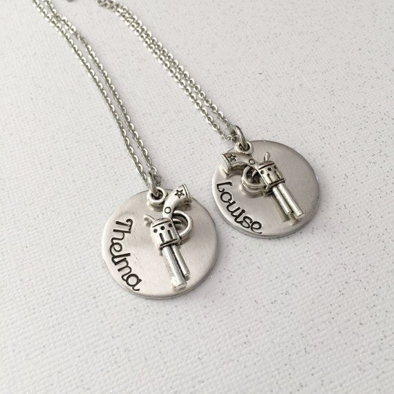 058df073 Personalized gift -Thelma and Louise - Best friends necklace set - Beat friends  forever - Hand stamp