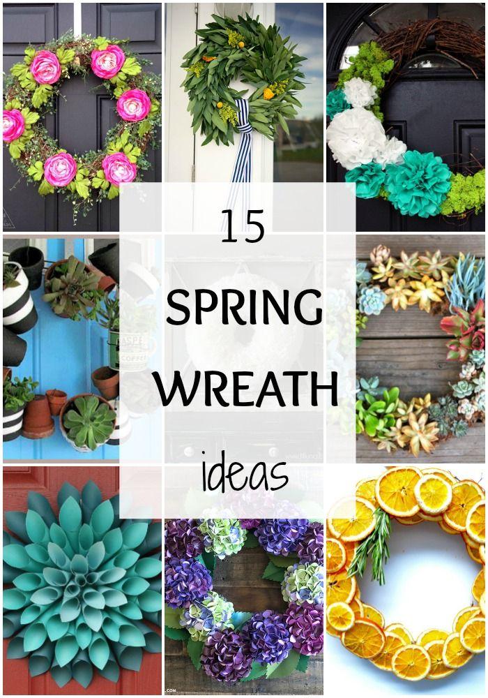 15 best spring wreath ideas via a blissful nest