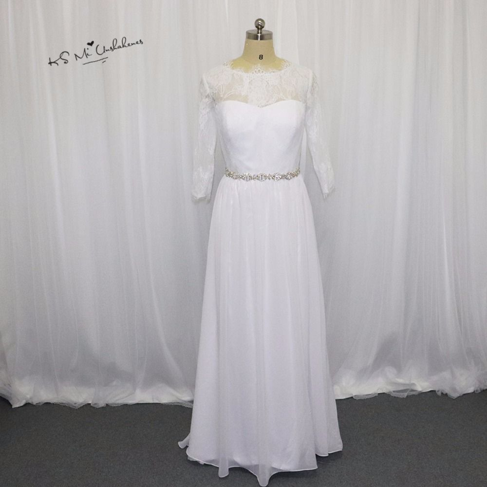 Vintage cheap wedding dress china a line long sleeve lace bride
