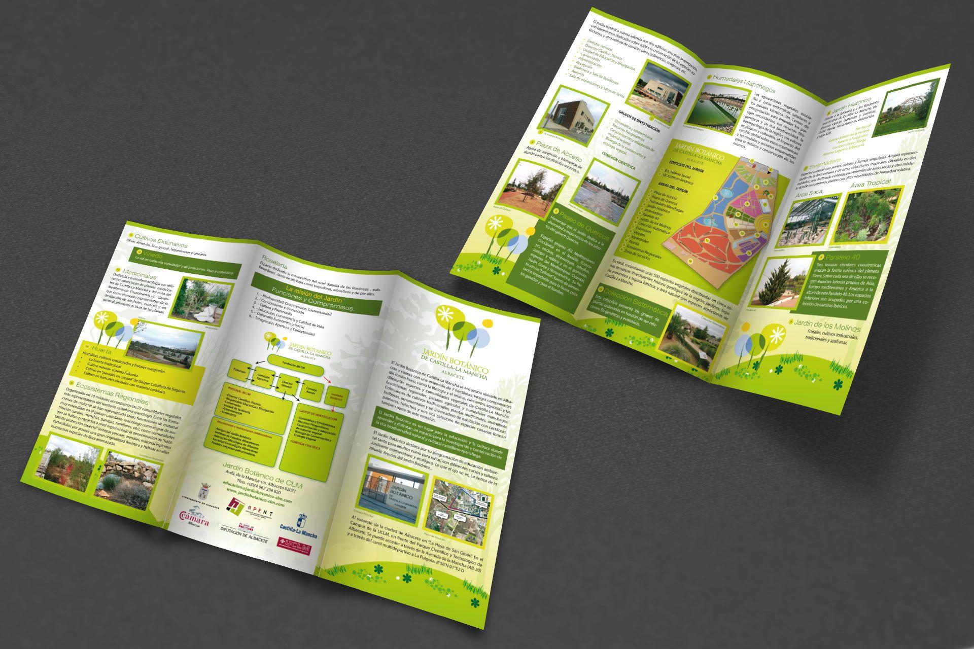 Tr ptico jard n bot nico de castilla la mancha folletos y publicidad impresa trabajo - Jardin botanico de castilla la mancha ...