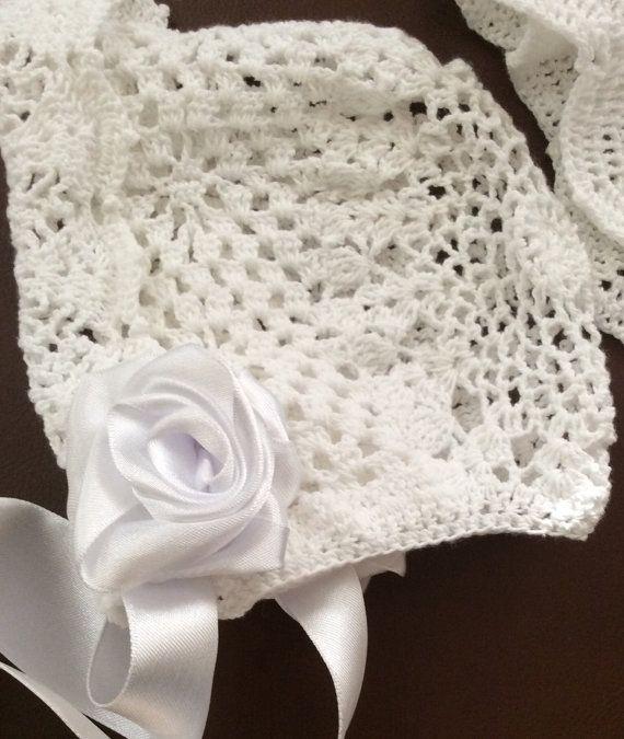 Crochet heirloom baby christening bonnet pdf pattern, bonnet pattern ...