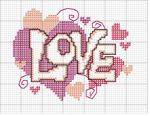 Love Lo Schema Punto Croce Di San Valentino Erikart Punto Croce