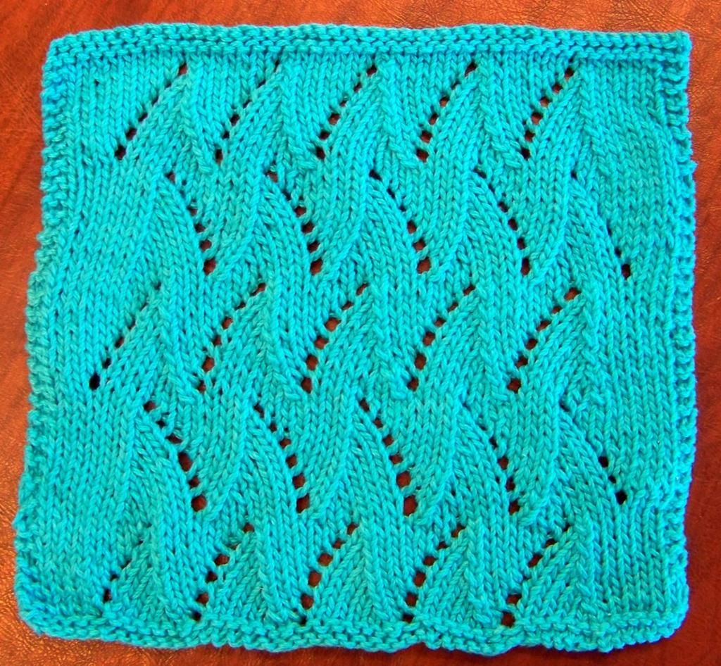 Looking for your next project? You're going to love Dishcloth ~ Eyelet and Flame Chevron by designer Laws Of Knitting.