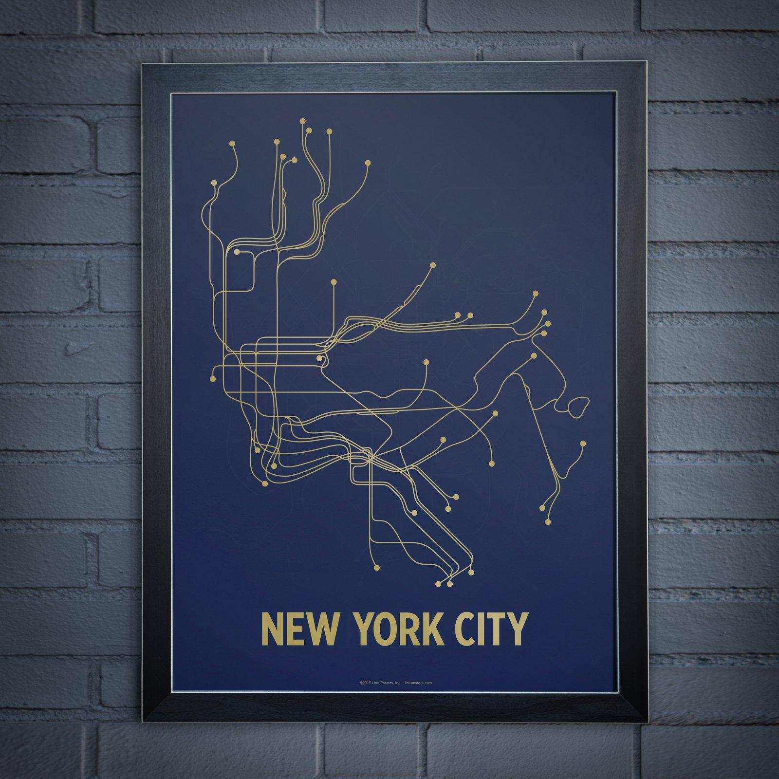 Line Posters New York City Screen Print Wall Art Wall