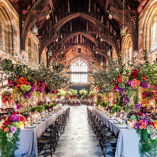 florals by seedflora at Sydney University Great Hall Event design