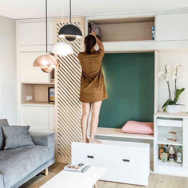am nager son salon astuces id es gain de place petits appartements pinterest salon. Black Bedroom Furniture Sets. Home Design Ideas