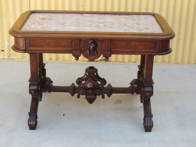 Antique Victorian Marble Top Tea Table Parlor Table Antique Furniture. Antique Victorian Marble Top Tea Table Parlor Table Antique