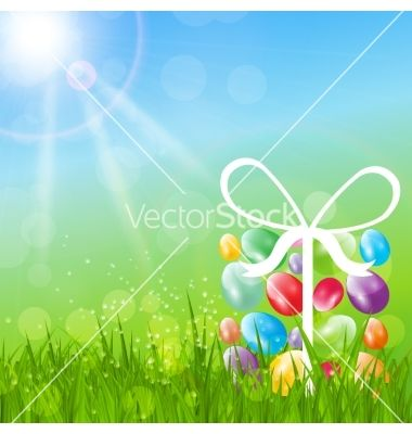 Easter background vector by yganko on VectorStock®