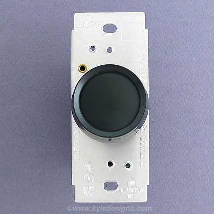 black rotary lutron dimmer switch tanglewild front house. Black Bedroom Furniture Sets. Home Design Ideas