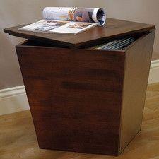Farnham Walnut Storage Chairside Table Living Room Furnishings