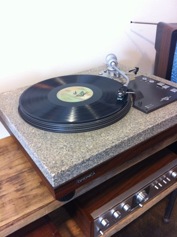 late 70s optonica granite top turntable they have kits to. Black Bedroom Furniture Sets. Home Design Ideas