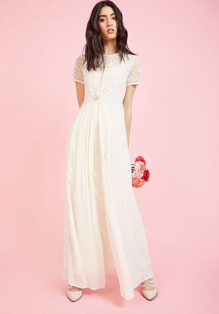 Maxi dress for wedding  Intricate Observance Maxi Dress  Maxi dresses Ivory and Wedding dress