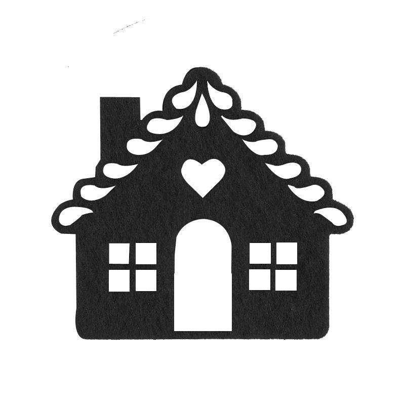 Carte De Noël à Fabriquer La Maison En Feutrine Cartes