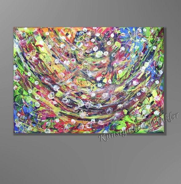 Acrylmalerei - Gemälde Acrylbild Abstrakt Leinwand Unikat Neu - ein ...
