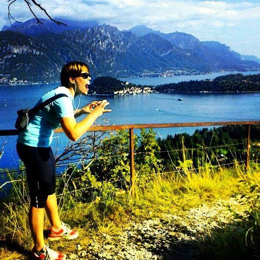 nordic walking - Griante, Lake Como, Italy