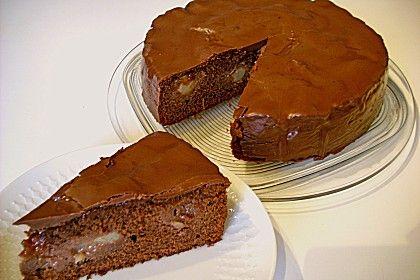 Birnenkuchen Mit Dem Schokoladigsten Schoko Schokoladen Schock