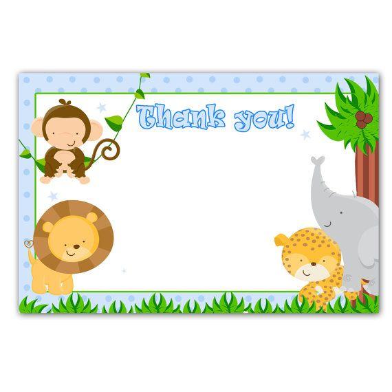 Invitaciónes de baby shower animales de la selva - Imagui   BB ...